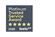 Feefo platinum trusted service award