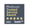 Feefo platinum trusted service award 2021
