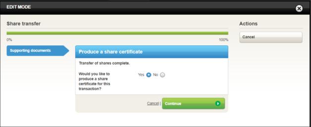 Share transfre produce certificate