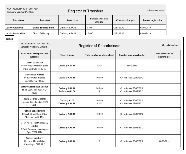 Transfer of shares easy shareholder transfers and company for Share certificate template companies house