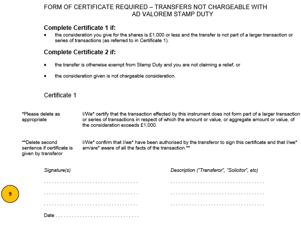 dividend certificate template - stock transfer form j30 template and guide inform direct