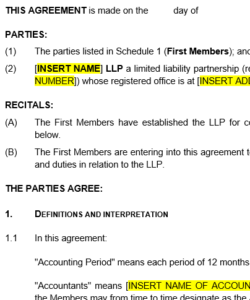 LLP agreement