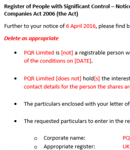 790D reply from legal entity