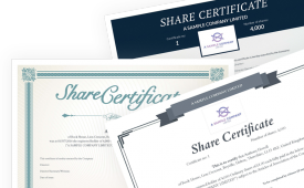 Choose From Our Range Of Beautiful Templates And Create Compliant Share  Certificates The Easy Way