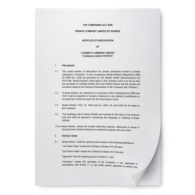 Enhanced articles of association
