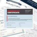 Premium membership certificates
