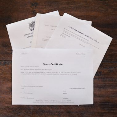 Printed formation documents