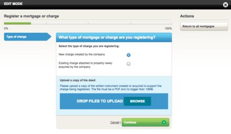 Register a mortgage upload